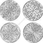 Circle vector decorative pattern