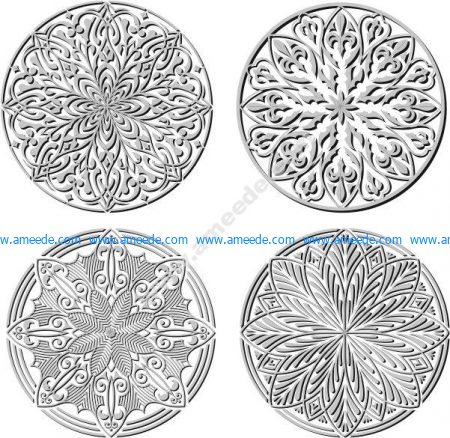 Circle vector decorative pattern