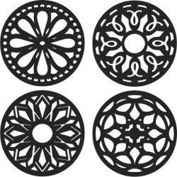 Classic circular decorative pattern design