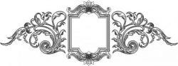Classic decorative mirror frame