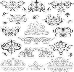 Collection of beautiful decorative drawings
