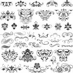 Collection of beautiful decorative motifs