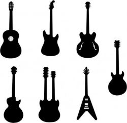 Collection of innovative designs of guitar models