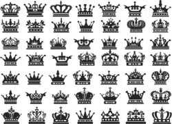 Collection of unique crowns in the world