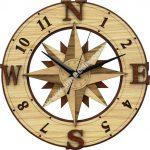 Compass Wall Clock Template