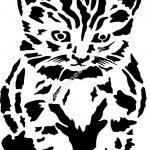 Cute kitten vector art