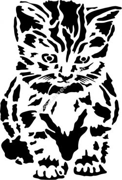 Cute kitten vector art