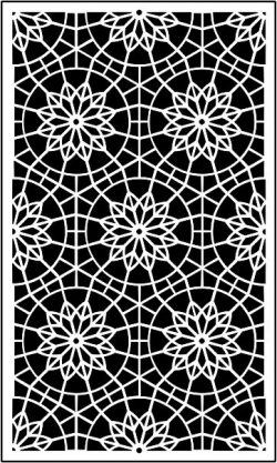 Decorative baffle mandala file .cdr and .dxf free vector download for CNC cut