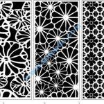 Decorative flowers panel screen