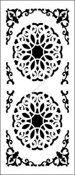 Decorative flowers partition