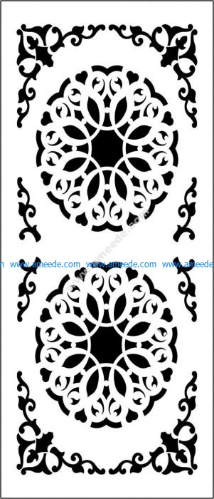 Decorative flowers partition