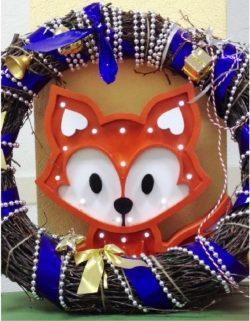 Decorative lamp shaped fox