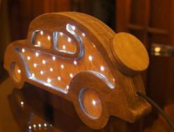 Decorative lights shaped car