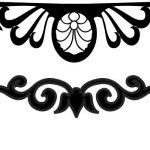 Decorative motifs of cnc engraving curtains