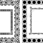 Decorative rectangle frame
