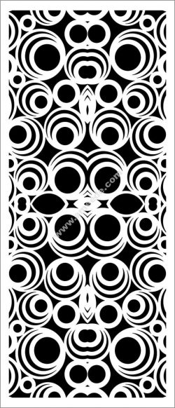 Decorative spiral baffle pattern