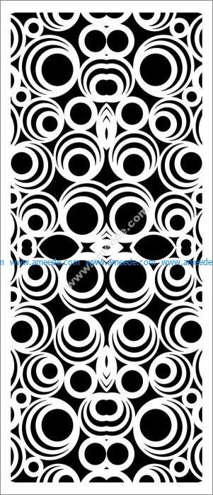 Decorative spiral baffle pattern