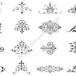 Decorative vector cali