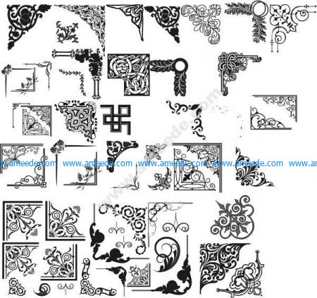 Decorative vector corner pattern