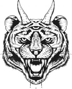 Devil tiger head