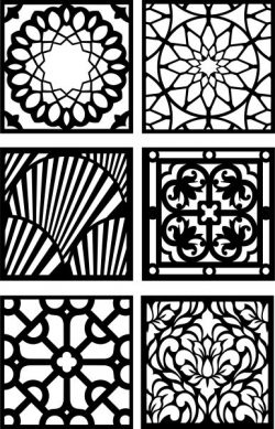 Diverse patterned squares in design