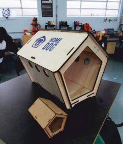 Wooden dog house design