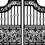 Door design fence gate modern style