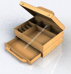 Drawer box vector