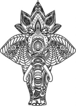 Elefante Mandala with lotus