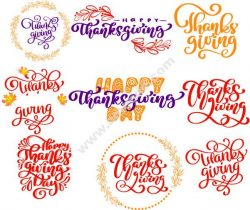 English calligraphy thanksgiving