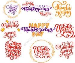 English calligraphy thanksgiving