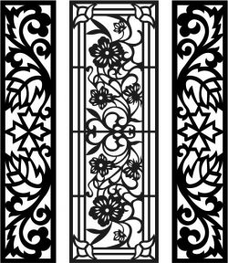 Floral pattern window with leafy