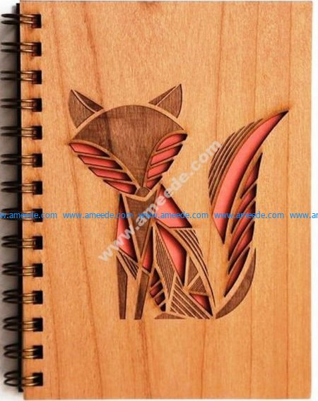 Fox laser cutting book cover