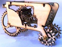 Wooden tractor model