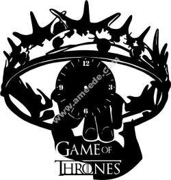 Game of thrones wall clock