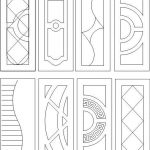 Geometric interior door pattern