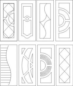 Geometric interior door pattern
