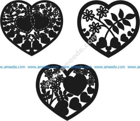 Heart vector cage heart