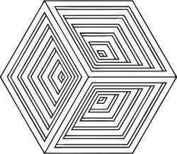 Hexagonal pattern causes 3d illusion phenomenon