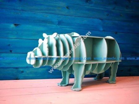 Hippo Storage Book Shelf