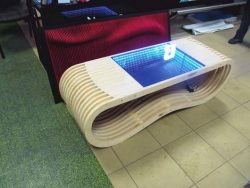 Infinity table made of oak wood