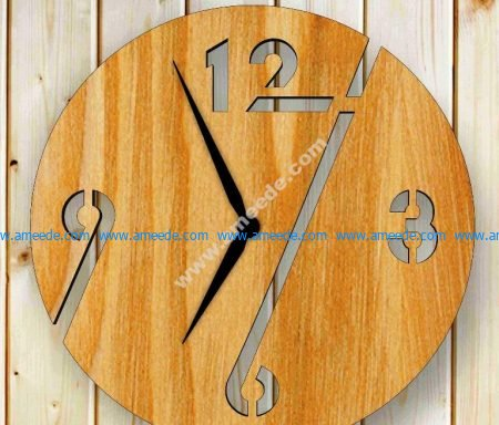Laser Cut Plywood Wall Clock