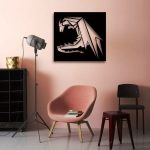 Living room dragon pattern design