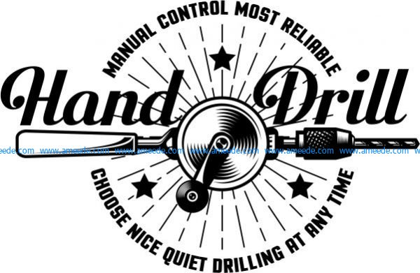 Logo image printed hand drill in t-shirt