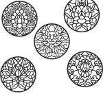 Lotus ornament circle