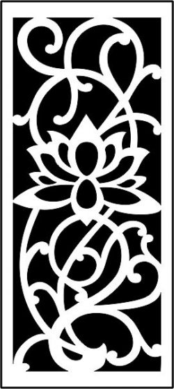 Lotus panel screen file .cdr and .dxf free vector download for CNC cut