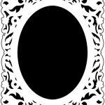 Mirror frame design template