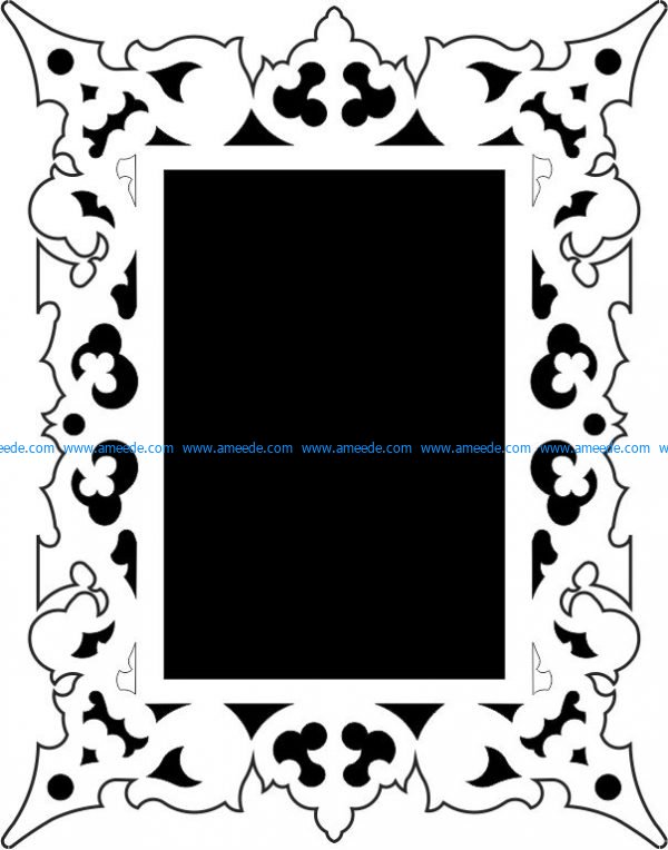 Mirror frame pattern vector