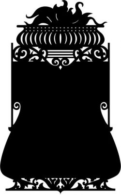 Mirror frame shaped vases file .cdr and .dxf free vector download for CNC cut