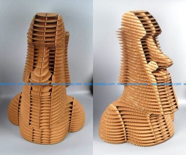 Moai Statue Laser Cut 3mm